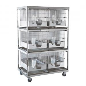 SPF Rabbit Cage with rack